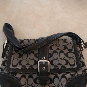 Genuine Coach medium size classic logo purse